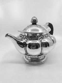Georg Jensen Early Vintage Georg Jensen Sterling Silver Melon Teapot 159 - 2077276
