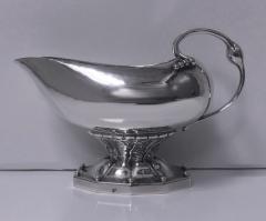 Georg Jensen Georg Jensen Cream Sauceboat 1915 1930 Mark Rare Design No 181 - 1055651