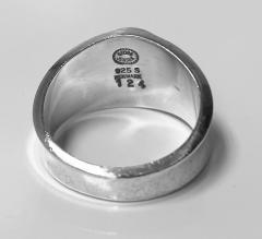 Georg Jensen Georg Jensen Hematite Ring Sterling Silver post 1945 - 2122046
