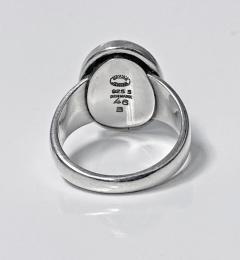 Georg Jensen Georg Jensen Hematite Sterling Ring Harald Nielsen Design - 1835430