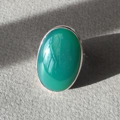 Georg Jensen Georg Jensen Modernist Sterling Silver Ring No 90B with Jadeite - 249183