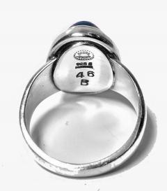 Georg Jensen Georg Jensen Sterling Lapis Ring designed by Harald Nielsen  - 1166259