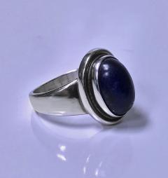Georg Jensen Georg Jensen Sterling Lapis Ring designed by Harald Nielsen  - 1166262