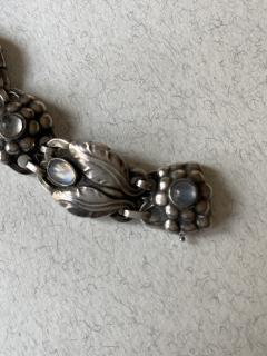 Georg Jensen Georg Jensen Sterling Silver Bracelet with Moonstone Design No 3 - 2125358
