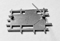 Georg Jensen Georg Jensen Sterling Silver Enamel Abstract Brooch Denmark C 1960 - 1929987