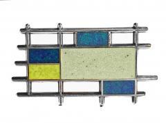 Georg Jensen Georg Jensen Sterling Silver Enamel Abstract Brooch Denmark C 1960 - 1930767
