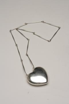 Georg Jensen Georg Jensen Sterling Silver Heart Necklace No 126 by Astrid Fog - 2134176