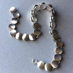 Georg Jensen Georg Jensen Sterling Silver Modern Necklace No 124 by Nanna Ditzel - 105625