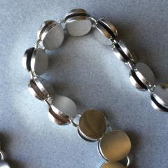 Georg Jensen Georg Jensen Sterling Silver Modern Necklace No 124 by Nanna Ditzel - 105627
