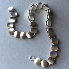 Georg Jensen Georg Jensen Sterling Silver Modern Necklace No 124 by Nanna Ditzel - 105629