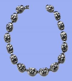 Georg Jensen Georg Jensen Sterling Silver Necklace American C 1940  - 2015979