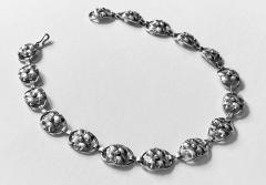 Georg Jensen Georg Jensen Sterling Silver Necklace American C 1940  - 2015981