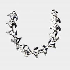 Georg Jensen Georg Jensen Sterling Silver Necklace Koppel designed Amoeba 89  - 1166247