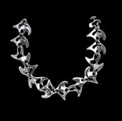 Georg Jensen Georg Jensen Sterling Silver Necklace Koppel designed Amoeba 89  - 1166249