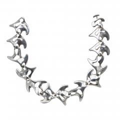 Georg Jensen Georg Jensen Sterling Silver Necklace Koppel designed Amoeba 89  - 1167205