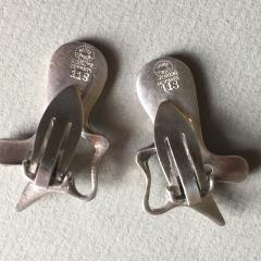 Georg Jensen Georg Jensen Sterling Silver Splash Earrings No 118 by Henning Koppel - 147513