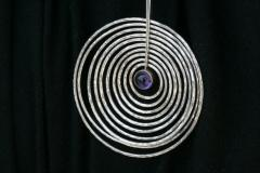 Georg Jensen Georg Jensen Sterling Silver and Amethyst Pendant Designed By Bent Gabrielsen - 2124973