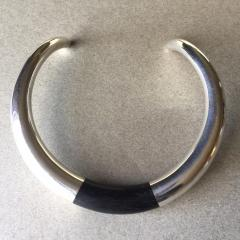 Georg Jensen Georg Jensen Sterling Silver and Ebony Neck Ring No A29A by Anne Ammitzb ll - 105650