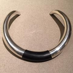 Georg Jensen Georg Jensen Sterling Silver and Ebony Neck Ring No A29A by Anne Ammitzb ll - 105651