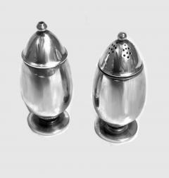 Georg Jensen Pair Georg Jensen Silver Salt and Pepper Shakers Casters 629B - 1061076