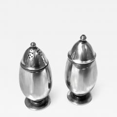 Georg Jensen Pair Georg Jensen Silver Salt and Pepper Shakers Casters 629B - 1061651