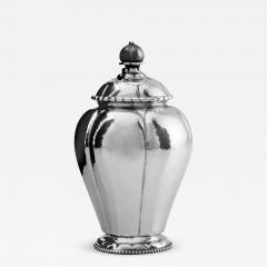 Georg Jensen Rare Antique Georg Jensen Silver Tea Caddy 3 - 2089487