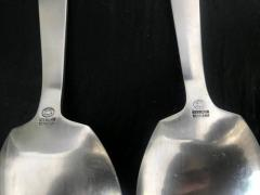 Georg Jensen Silver Salad Server Set in Bittersweet Pattern by Georg Jensen - 566582
