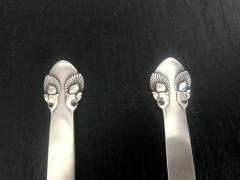 Georg Jensen Silver Salad Server Set in Bittersweet Pattern by Georg Jensen - 566584