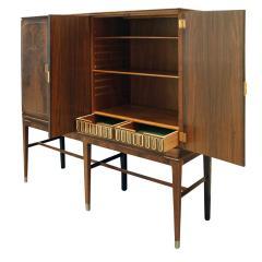 Georg Kofoed Georg Kofoed 4 Door Cabinet in Brazilian Rosewood with Inlays 1930s signed  - 980106