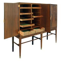 Georg Kofoed Georg Kofoed 4 Door Cabinet in Brazilian Rosewood with Inlays 1930s signed  - 980107