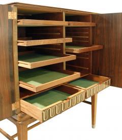 Georg Kofoed Georg Kofoed 4 Door Cabinet in Brazilian Rosewood with Inlays 1930s signed  - 980108