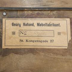 Georg Kofoed Georg Kofoed 4 Door Cabinet in Brazilian Rosewood with Inlays 1930s signed  - 980111