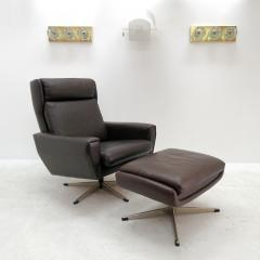 Georg Thams Danish Leather Lounge Chair with Ottoman - 603356 & Georg Thams - Danish Leather Lounge Chair with Ottoman