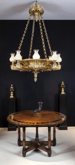 George Bullock Antique English Regency Period Giltwood Chandelier of Spectacular Proportions - 1220768