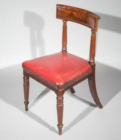 George Bullock Antique Regency Royal Desk Chair in Burgundy Leather - 1091413