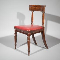 George Bullock Antique Regency Royal Desk Chair in Burgundy Leather - 1091415