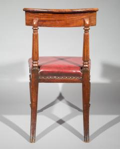 George Bullock Antique Regency Royal Desk Chair in Burgundy Leather - 1091416