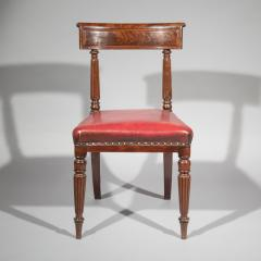George Bullock Antique Regency Royal Desk Chair in Burgundy Leather - 1091417