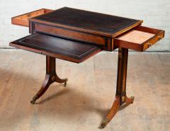 George Bullock Regency Burl Yew and Ebony Writing Table - 1854866