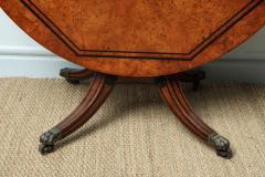 George Bullock Regency Burr Oak Breakfast Table - 267775