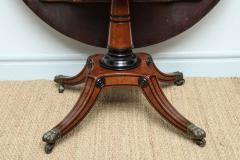 George Bullock Regency Burr Oak Breakfast Table - 267776