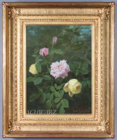 George Cochran Lambdin Yellow and Pink Roses - 338361