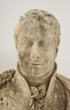 George Garrard Georgian Marble Bust of Baronet Montagu Roger Burgoyne - 1988401