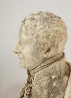 George Garrard Georgian Marble Bust of Baronet Montagu Roger Burgoyne - 1988406