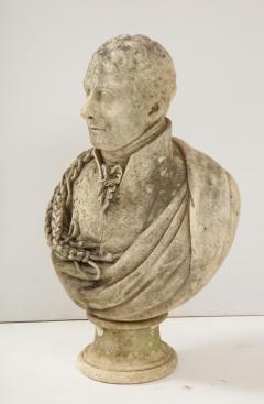 George Garrard Georgian Marble Bust of Baronet Montagu Roger Burgoyne - 1988407