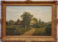 George H Drew American Farm Landscape Oil Painting signed by George Drew - 1138923