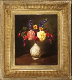 George Henry Hall Still Life of Flowers in a White Vase - 363629