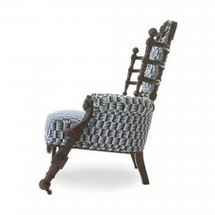George Hunzinger Late 19th c Renaissance Revival Walnut Arm Chair by George Hunzinger - 1582076