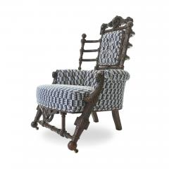 George Hunzinger Late 19th c Renaissance Revival Walnut Arm Chair by George Hunzinger - 1582077