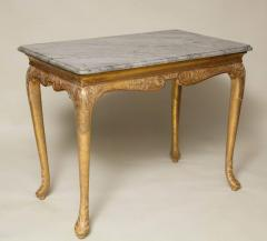 George I Gesso Carved Marble Top Table - 663752